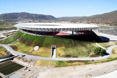 Mexico Unveils Gigantic Green Roofed Volcano Soccer Stadium