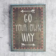 Sass & Belle Large 'Go Your Own Way' Tribal Box Frame