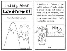 Integrate science & literacy with Learning About Landforms:  Student Book  (Sample resource from this set of supplemental of materials on landforms.  Twelve different landforms featured... includes posters, nonfiction articles, response sheets, and activities.)  46 pages, $