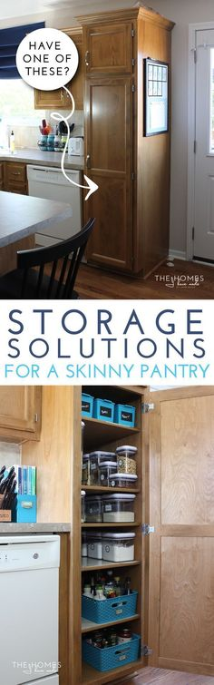 Struggling to keep a skinny pantry organized? These smart storage solutions will help you make the most of every inch in your skinny pantry!