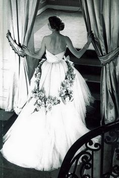 Gown by Christian Dior, photo by Willy Maywald