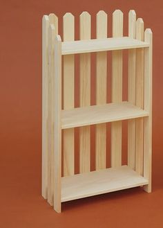 Picket Fence Bookcases....come In Four Different Sizes From Small To Extra