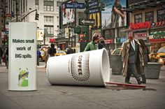 "Bounty's ""Big Spills"" outdoor advertising campaign."