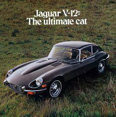 1972 Jaguar V12 E-Type Coupe Advertisement