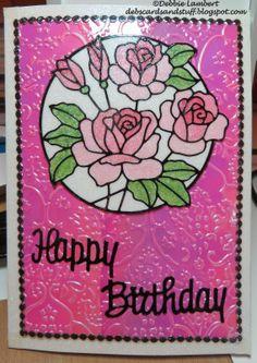 Debbies Creations: Glitter and Shimmer Birthday Card (Elizabeth Craft Designs)