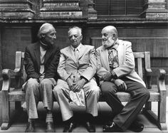 "Bill Brandt, Brassaï and Ansel Adams, London, 1976 ... photo by Paul Joyce ""Photography is not a sport. It has no rules. Everything must be dared and tried!"" Bill Brandt ""To me photography must suggest, not insist or explain."" Brassaï ""You don't take a photograph, you make it."" Ansel Adams"