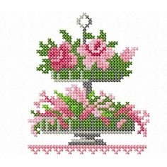 Cross Stitch Borders, Cross Stitch Rose, Cross Stitching, Cross Stitch Patterns, Hardanger Embroidery, Cross Stitch Embroidery, Vintage Cross Stitches, Home Textile, Textiles