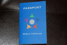 """Little Kids Pretend Passports. perfect for when you read a story and """"visit"""" different countries in your reading travels! Pta School, Night School, School Stuff, School Ideas, Little Passports, Passport Stamps, Family Night, Dramatic Play, Travel Themes"""