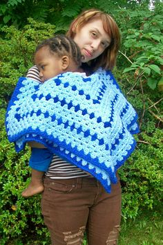 Royal and baby blue Receiving blanket, hexagon shaped by dnjcrafts on Etsy
