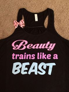Beauty Trains Like A Beast - Glitter - Racerback Tank - Inspirational – Ruffles with Love