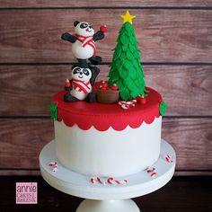 Panda Christmas Cake