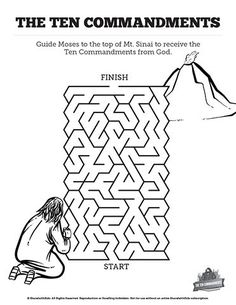 The Ten Commandments Bible Mazes: Fun with just enough challenge, your kids are going to love figuring out these ten commandments Bible mazes. Produce with award winning illustrations, these printable Bible activity pages are a great supplement to your Exodus 20 lesson on Moses and the ten commandments.