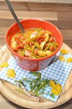 Kasseler-Bohnen-Eintopf mit Nudeln #recipe #soup #fall #souplove