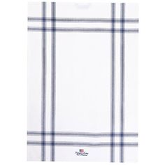 Lexington East Hampton Kitchen Towel White/Navy ($16) ❤ liked on Polyvore featuring home, kitchen & dining, kitchen linens, blue, blue kitchen towels, white cotton kitchen towels, white tea towels, striped kitchen towels and white cotton tea towels