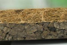 Close up cocos/geëxpandeerde kurk isolatie platen. De perfecte isolator Thermisch+ Akoestisch+ Close Up, Cork, Corks