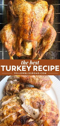 This is the BEST Thanksgiving Turkey Recipe! Learn how to cook a turkey with thi. This is the BEST Thanksgiving Turkey Recipe! Learn how to cook a turkey with this easy recipe - it will be the star of your Thanksgiving Dinner. recipes for two Best Thanksgiving Turkey Recipe, Thanksgiving Menu, Healthy Thanksgiving Recipes, Traditional Thanksgiving Recipes, Holiday Recipes, Recipes Dinner, Best Christmas Dinner Recipes, Christmas Dinners, Recipes