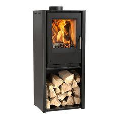 Aarrow i400 Freestanding Black 6.1kW Multi Fuel Wood Burning Stove