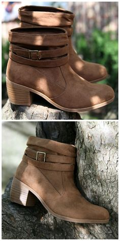 A slouched shaft and buckle detail lend casual sophistication to the Willow ankle boot.
