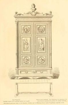 Img dessins meubles mobilier armoire porte - Dessin d armoire ...