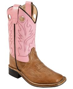 Old West Youth Pink Canyon Cowgirl Boots