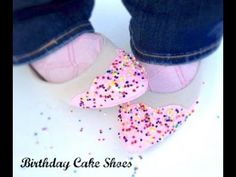 DIY Shoes! make fun Birthday flats with faux frosting and sprinkles!
