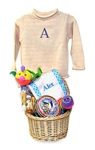 Nothing like giving a basket full of goodies for a new baby gift. Love.