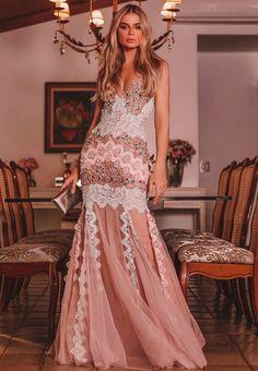 Mesh V-Neck Floor-Length Mermaid Elegant Dress Elie Saab, Party Fashion, Girl Fashion, Style Fashion, Formal Wear, Formal Dresses, Maxi Dresses, Sequin Party Dress, Kinds Of Clothes