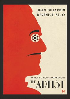 """Big winner at the Spirit Awards this year was """"The Artist"""", great minimal poster design"""