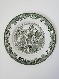 Similar ideas & Royal China Rare Green Willow Ware Rimmed Soup Bowl c.1940s | Ware ...