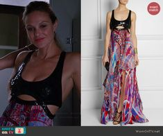 Phoebe's sequinned top maxi dress on Girlfriends Guide to Divorce.  Outfit Details: http://wornontv.net/43310/ #GG2D