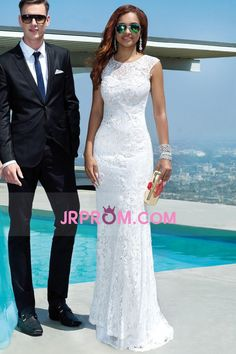 2016 Slim Scoop Mermaid/Trumpet Prom/Wedding Dresses Lace
