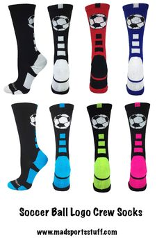 MadSportsStuff Soccer Socks in a sporty crew length - available in basic colors and fun neons! #MadSportsStuff