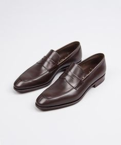 Penny Loafer - Leather With Traditional Goodyear Stitch Price: CHF 420 Penny Loafers, Loafers Men, Oxford Shoes, Dress Shoes, Menswear, Chf, Leather, Traditional, Stitch