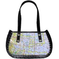 Here's the purse for that road trip: Made from recycled tires and old maps. I love this! #ReTIre #RubberofftheRoad