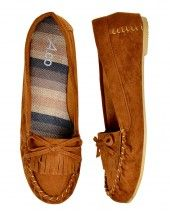 Tan moccasin loafers