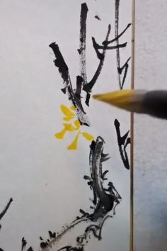 Chinese Drawings, Chinese Art, Art Drawings, Chinese Painting Flowers, Japanese Painting, Watercolor Video, Watercolor Flowers, Asian Flowers, Shrink Art