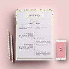 Resume Template 3 page pack | CV Template + Cover Letter for MS Word | Instant Download | Fashion Designer by ResumeGalleria on Etsy https://www.etsy.com/listing/250991663/resume-template-3-page-pack-cv-template