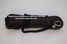 Black 10mm*30m Off Road Winch Rope,ATV Winch Cable,Synthetic Winch Rope,Plasma Rope 10mm