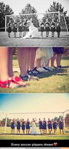 Perfect wedding pic for soccer players
