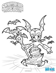 TBat Spin Coloring Page More Skylanders Trap Team Sheets On Hellokids