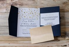 Want to add some flare to those wedding invitations? Check out how to add Gold to DIY Wedding Invitations   MountainModernLife.com