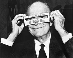 "1952 : Eisenhower in ""I Like Ike"" glasses"