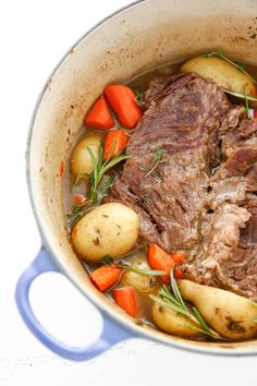 Dutch Oven Pot Roast recipe: Dutch Oven Pot Roast is a traditional winter meal perfect for cold days. Dutch oven cooking is simple and quick! And also super tasty! Pot Roast Recipes, Meat Recipes, Cooking Recipes, Recipies, Cooking Ideas, Camp Oven Recipes, Bison Recipes, Campfire Recipes, Campfire Food