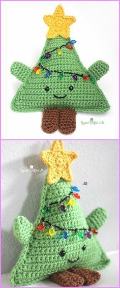 Amigurumi Crochet Cuddly Christmas Tree Free Patterns - cuddly crochet christmas tree free pattern