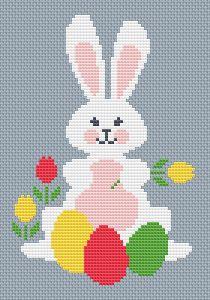 Hipster Bunny Cross Stitch Pattern Watercolor Animal Cr Rabbit Cross Stitch Pattern Modern Cross Stitch Pattern