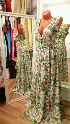 Купить Платье из шифона, веселое лето. - летнее платье, платье в пол, платье недорого