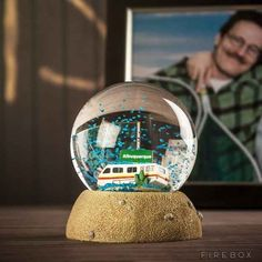 """Blue meth snow globe: 