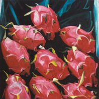 Pithayas, 2002, óleo sobre lino 70 x 70 cms