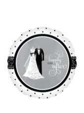 Foil Black and White Wedding Balloon 18in - Party City