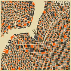 Modern Abstract City Maps  http://www.thisiscolossal.com/2013/07/modern-abstract-city-maps/: